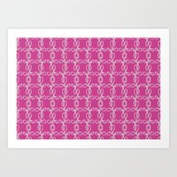 damask Art Prints featuring Damask by Apple Kaur