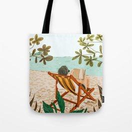 Vacay Book Club #illustration #tropical Tote Bag