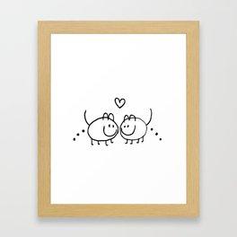 LOVE AND SHIT HAPPENS Framed Art Print