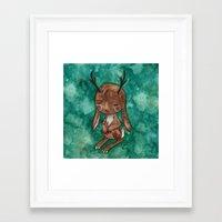 jackalope Framed Art Prints featuring Jackalope by FawnLorn
