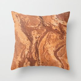 Red Rock Corral Texture from Colorado Throw Pillow