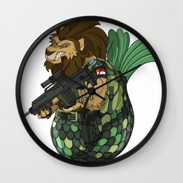 Merlion - Mermaid and Lion Singapore Navy Gift Wall Clock