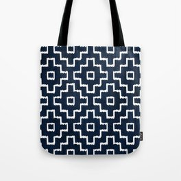 Blue Geometric Pattern Tote Bag