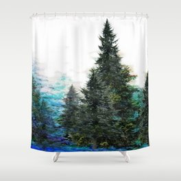 GREEN MOUNTAIN PINES LANDSCAPE Shower Curtain