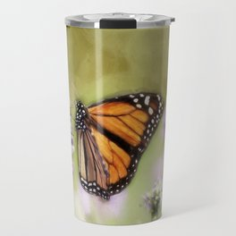 A Monarch and her Lavender Travel Mug