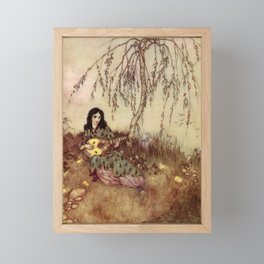 Beauty Had A Brave Heart By Edmund Dulac Framed Mini Art Print
