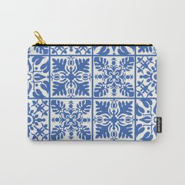 Hawaiian Quilt in Blue Carry-All Pouch