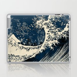 Japanese Waves Blue Laptop & iPad Skin