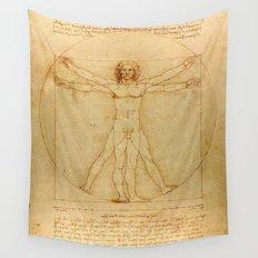 Leonardo da Vinci - Vitruvian Man Wall Tapestry