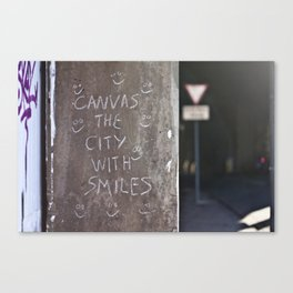 Canvas the City with Smiles Canvas Print