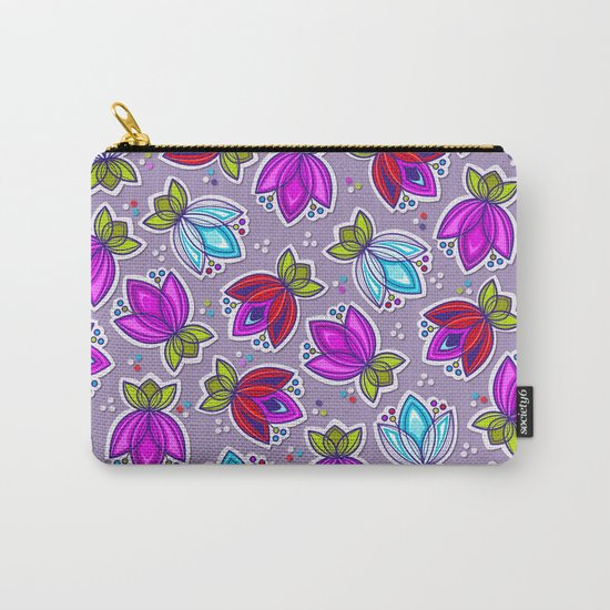 Pop Off Floral Carry-All Pouch