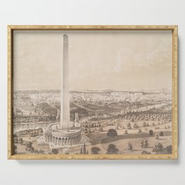 Vintage Pictorial Map of Washington DC (1852) Serving Tray