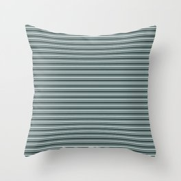 Cave Pearl Light Mint Green PPG1145-3 Horizontal Stripes Pattern 2 on Night Watch PPG1145-7 Throw Pillow