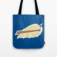 appa Tote Bags featuring Buffalo Sky Bisons by 5eth