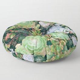 Succulents Green Garden Floor Pillow