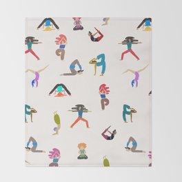 yoga lovers Throw Blanket