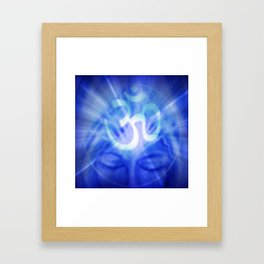 Om Namaste Indigo Healing  Framed Art Print