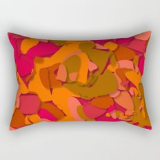 red camouflage Rectangular Pillow