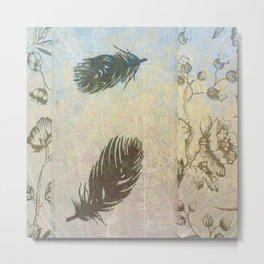 Vintage Feathers Metal Print