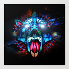 Wolf retro Futurism Canvas Print