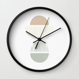 Striped Balance NO.2 | Sage Green Wall Clock