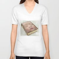 toddler V-neck T-shirts featuring facebook by Vin Zzep