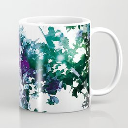 Watercolor Floral Teal Purple Green Coffee Mug