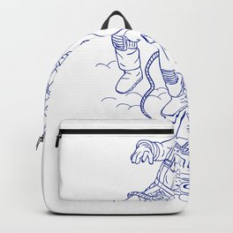 Astronaut Tethered Caravel Ship Drawing Backpack