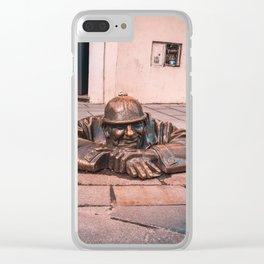 Resting Soldier Bratislava Clear iPhone Case