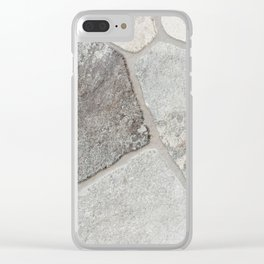 Natural Stone Wall Clear iPhone Case