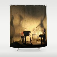 lab Shower Curtains featuring the lab by XfantasyArt