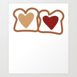 Peanut Butter and Jelly PB&J Art Print
