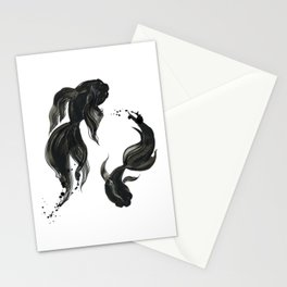 Koi fishes Stationery Cards