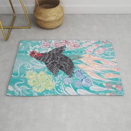 Elmer Finds a Field of Flowers Rug