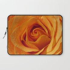 Gold Rose Bud- Orange Roses and flowers Laptop Sleeve