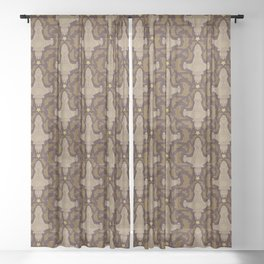 Leaf on the Wind Damask Sheer Curtain