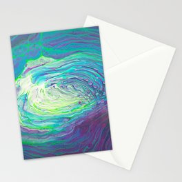 Acrylic Pour - Psychedelic Peacock Stationery Cards