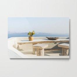 Santorini, Greece #society6 #decor #buyart Metal Print