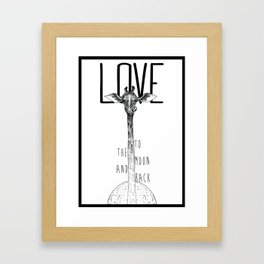 LOVE TO THE MOON AND BACK Framed Art Print