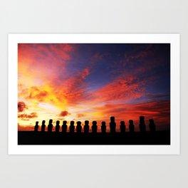 Easter Island Art Print