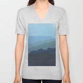 Landscape Blue Unisex V-Neck