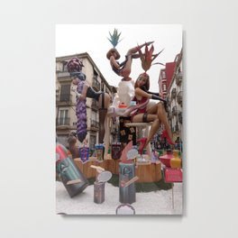 Fallas is an UNESCO world heritage Valencia, Spain Metal Print