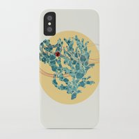 coral iPhone & iPod Cases featuring coral by teetys