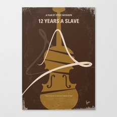No268 My 12 years a slave minimal movie poster Canvas Print