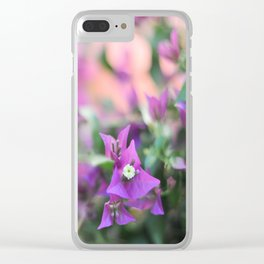 Romantic floral vibes - Bougainvillea #1 #decor #art #society6 Clear iPhone Case
