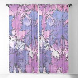 Cornflower Collage Sheer Curtain