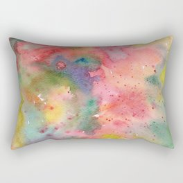 Abstract flower field, watercolor pattern, colorful Rectangular Pillow