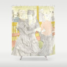 """Henri de Toulouse-Lautrec """"Two Woman Dancing"""" Shower Curtain"""