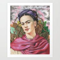 frida Art Prints featuring Frida by Mark Satchwill Art