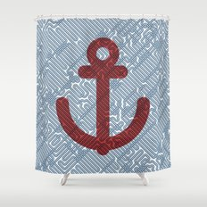 Knot & Anchor Shower Curtain